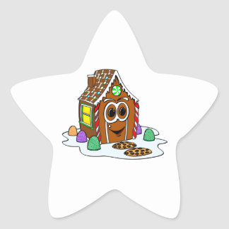 Ginger Bread House Cartoon Star Sticker