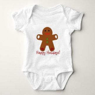 Ginger Bread Man Greeting! Baby Bodysuit