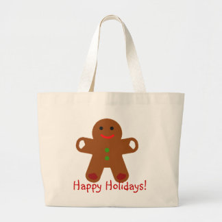 Ginger Bread Man Greeting Tote Bags