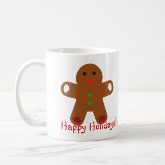 Ginger Bread Man Greeting! Classic White Coffee Mug