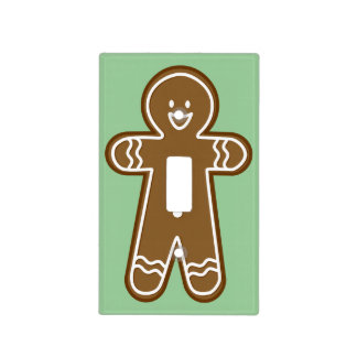 Ginger bread man light switch switch plate cover