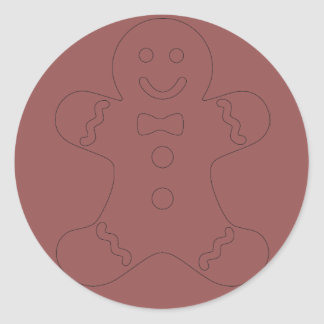 Ginger Bread Man Red Sticker