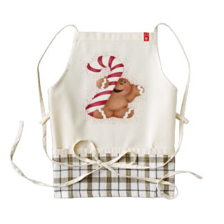 Ginger Bread Zazzle Heart Apron