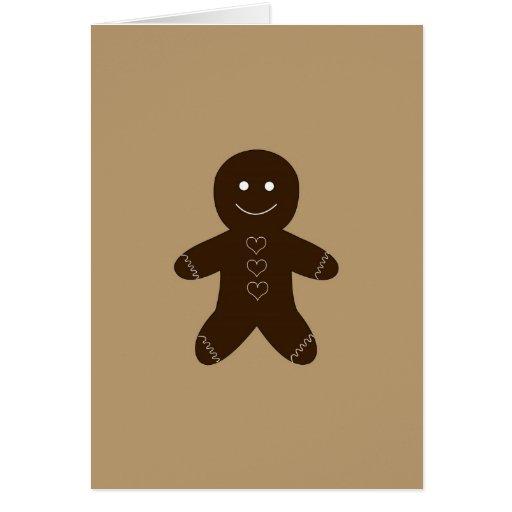 Ginger Breadman Greeting Card