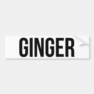 Ginger Car Bumper Sticker