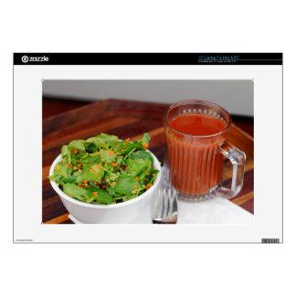 Ginger Carrot Tomato Dressing Watercress Salad Laptop Skin