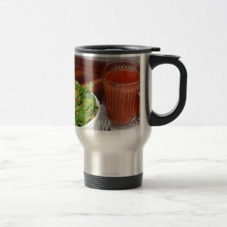 Ginger Carrot Tomato Dressing Watercress Salad Travel Mug