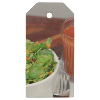 Ginger Carrot Tomato Dressing Watercress Salad Wooden Gift Tags