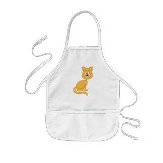 Ginger Cat. Kids' Apron