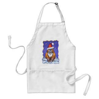 Ginger Cat Christmas Adult Apron