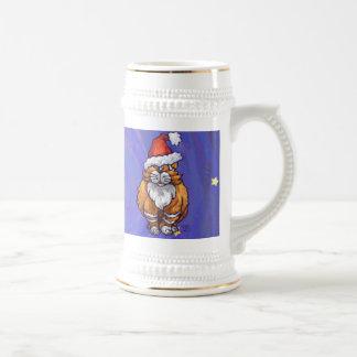 Ginger Cat Christmas Beer Stein