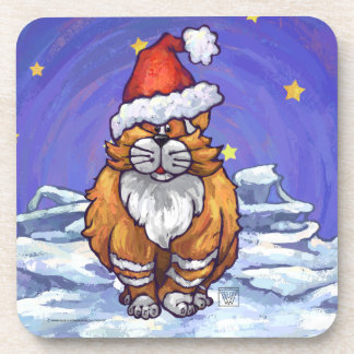 Ginger Cat Christmas Beverage Coaster