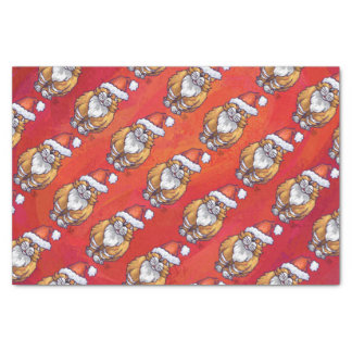 """Ginger Cat Christmas On Red 10"""" X 15"""" Tissue Paper"""