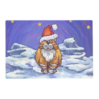 Ginger Cat Christmas Placemat