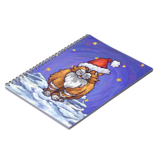 Ginger Cat Christmas Spiral Notebook