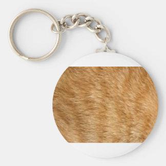 Ginger cat fur key chains