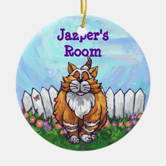 Ginger Cat Gifts & Accessories Ceramic Ornament