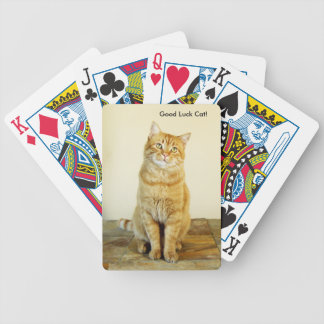 Ginger Cat Good Lucik Playing Cards