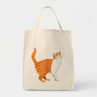 'Ginger Cat' Grocery Tote Bag