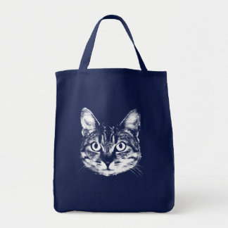 Ginger Cat Grocery Tote Canvas Bag