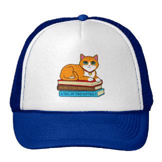 Ginger Cat on Books Trucker Hat