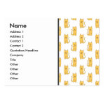 Ginger Cat Pattern. Business Card Template
