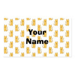 Ginger Cat Pattern. Business Card Templates