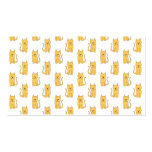 Ginger Cat Pattern. Business Cards