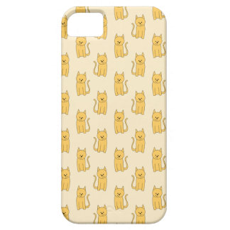 Ginger Cat Pattern. iPhone 5 Cases