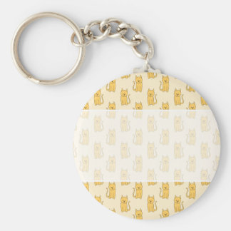 Ginger Cat Pattern. Keychain