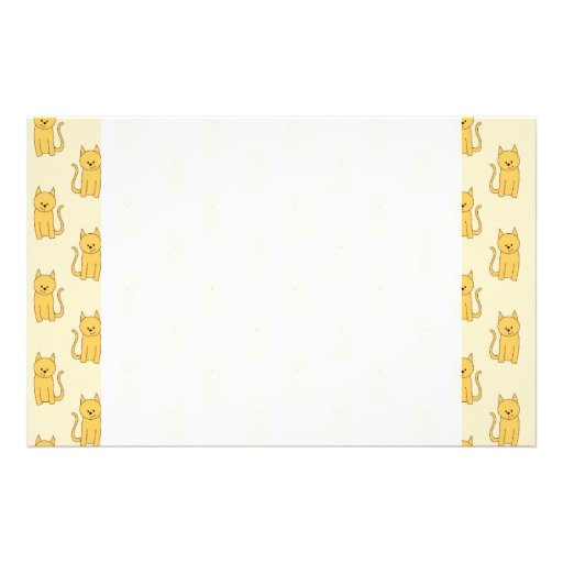 Ginger Cat Pattern. Stationery
