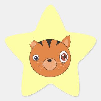 Ginger Cat Star Sticker