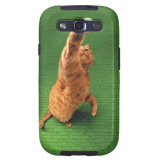 Ginger cat stretching out paw galaxy s3 covers