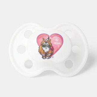 Ginger Cat Valentine's Day BooginHead Pacifier