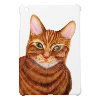 Ginger Cat Watercolour Artwork Painting Cover For The iPad Mini