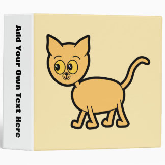 Ginger Cat with Amber Color Eyes. 3 Ring Binder