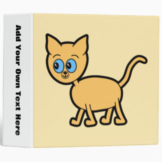 Ginger Cat with Blue Eyes. 3 Ring Binder