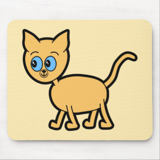 Ginger Cat with Blue Eyes. Mouse Pads