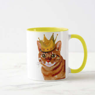 Ginger Cat with Crown Portrai Mug