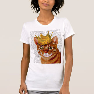 Ginger Cat with Crown Portrai T-Shirt