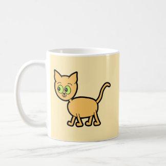 Ginger Cat with Green Eyes. Coffee Mug