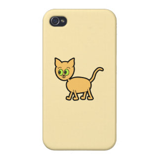 Ginger Cat with Green Eyes. iPhone 4/4S Cases
