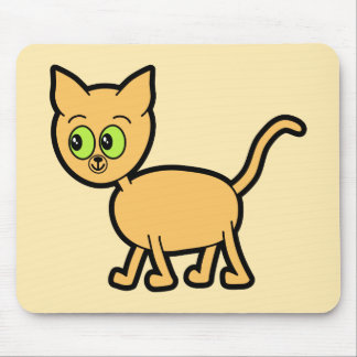 Ginger Cat with Green Eyes. Mouse Pads