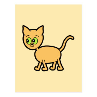 Ginger Cat with Green Eyes. Postcard