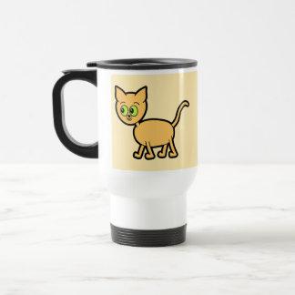 Ginger Cat with Green Eyes. Travel Mug