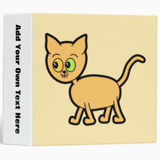 Ginger Cat with Odd Eyes. 3 Ring Binders
