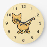 Ginger Cat with Odd Eyes. Clocks
