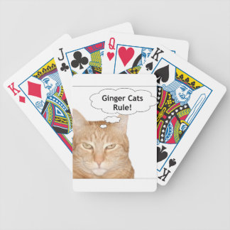 Ginger Cats Rule Bicycle Card Decks