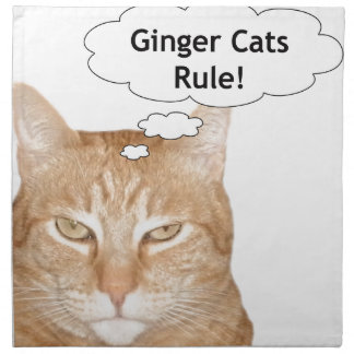 Ginger Cats Rule Napkins