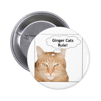 Ginger Cats Rule! Pinback Button